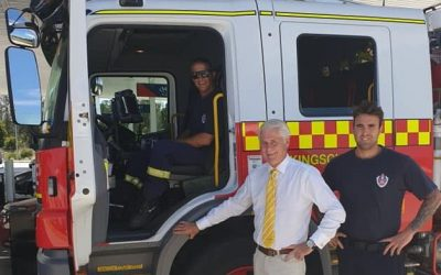 Geoff Provest and the Nationals to build new Kingscliff Fire Station